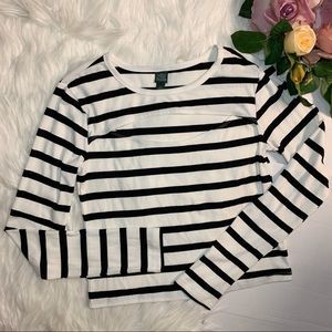 WildFable  Black and White stripes shirt